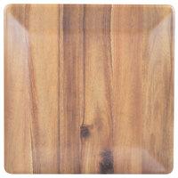 Tablecraft M1717ACA Frostone 16 3/4 inch Square Acacia Wood Melamine Tray