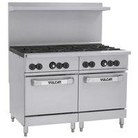 Vulcan 48SS-8BP Endurance Liquid Propane 8 Burner 48 inch Range with 2 Standard Ovens - 286,000 BTU