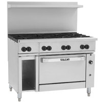 Vulcan 48S-8BN Endurance Natural Gas 8 Burner 48 inch Range with Standard Oven and 12 inch Cabinet Base - 275,000 BTU