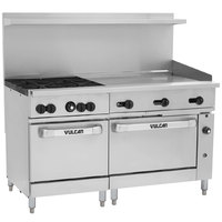 Vulcan 60SC-4B36GTP Endurance Liquid Propane 4 Burner 60 inch Range with 36 inch Thermostatic Griddle, 1 Standard, and 1 Convection Oven - 238,000 BTU