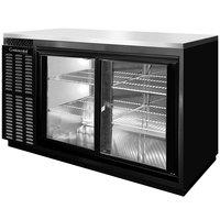 Continental Refrigerator BBUC69S-SGD 69 inch Black Glass Door Shallow Depth Undercounter Back Bar Refrigerator