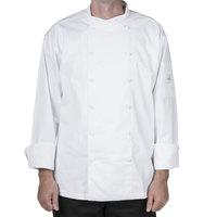 Mercer M62010WH3X Renaissance Men's 56 inch XXXL White Double Breasted Scoop Neck Jacket