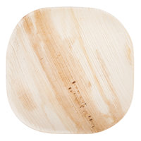 TreeVive by EcoChoice 4 inch Square Palm Leaf Plate - 25/Pack