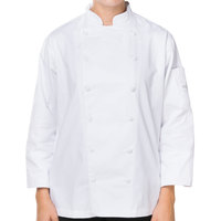 Mercer M62060WHM Renaissance Women's 36 inch M Traditional Neck Chef Jacket