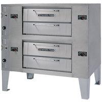 Bakers Pride GS-990 Super Deck Natural Gas Double Deck Pizza Oven - 120,000 BTU