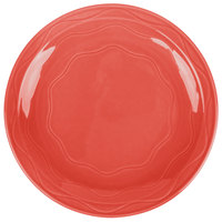 Syracuse China 903034003 Cantina 7 1/4 inch Cayenne Carved Porcelain Round Plate - 12/Case