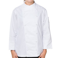 Mercer M62040WHS Renaissance Women's 34 inch S White Double Breasted Scoop Neck Chef Jacket