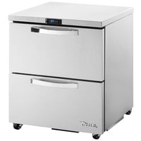 True TUC-27D-2-LP-HC~SPEC1 27 inch Spec Series Low Profile Undercounter Refrigerator with Two Drawers