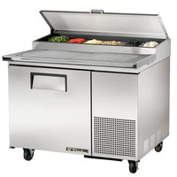 True TPP-44 44 inch Refrigerated Pizza Prep Table with Topping Catcher