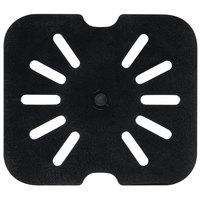 1/6 Size Black Polycarbonate Drain Shelf
