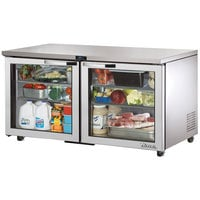 True TUC-60G-ADA~SPEC1 60 inch Spec Series ADA Height Undercounter Refrigerator with Glass Doors