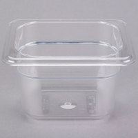 Cambro 84CW135 Camwear 1/8 Size Clear Food Pan - 4 inch Deep