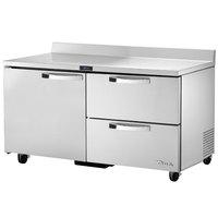 True TWT-60D-2~SPEC1 60 inch Spec Series Worktop Refrigerator - 2 Drawers and 1 Door