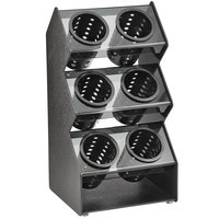 Vollrath FWVH-3X2B 6 Hole Vertical Countertop Flatware Organizer