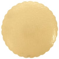 8 inch Cake Circle Gold Laminated Corrugated   - 25/Pack