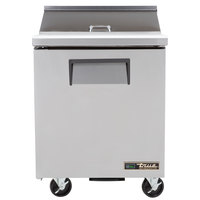 True TSSU-27-8-HC LH 27 inch Salad / Sandwich Prep Refrigerator with Left-Hinged Door