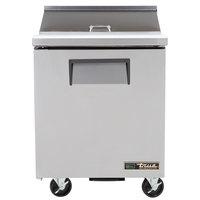 True TSSU-27-8-HC LH 27 inch Salad / Sandwich Prep Refrigerator with Left-Hinged Door
