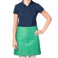 38 inch x 34 inch Green Poly-Cotton Four Way Waist Apron