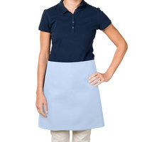 38 inch x 34 inch Light Blue Poly-Cotton Four Way Waist Apron