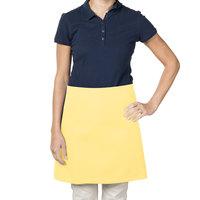 38 inch x 34 inch Yellow Poly-Cotton Four Way Waist Apron