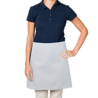 38 inch x 34 inch Gray Poly-Cotton Four Way Waist Apron