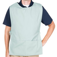 29 inch x 17 1/2 inch Sea Green Poly-Cotton Cobbler Apron with Two Pockets