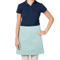 38 inch x 34 inch Sea Green Poly-Cotton Four Way Waist Apron