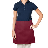 38 inch x 34 inch Burgundy Poly-Cotton Four Way Waist Apron