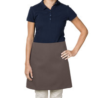 38 inch x 34 inch Brown Poly-Cotton Four Way Waist Apron