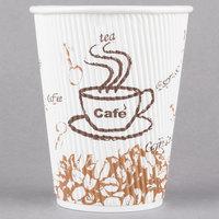 Choice 12 oz. Sleeveless Bean Print Paper Hot Cup   - 500/Case