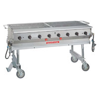 MagiKitch'n LPAGA-60-SS Stainless Steel MagiCater 60 inch Portable Outdoor Grill