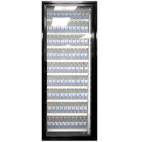 Styleline ML3075-NT MOD//Line 30 inch x 75 inch Modular Walk-In Cooler Merchandiser Door with Shelving - Satin Black Smooth, Right Hinge