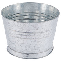 Choice 10 5/16 inch Round Galvanized Metal Bucket