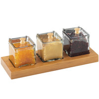 Cal-Mil 1338-60 Bamboo Three-Jar Display - 13 inch x 5 inch x 5 1/2 inch