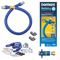 36 inch Dormont 1650KITCF SafetyQuik Gas Appliance Connector Kit - 1/2 inch Diameter