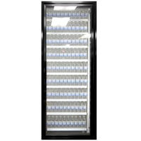 Styleline ML3079-HH MOD//Line 30 inch x 79 inch Modular High Humidity Walk-In Cooler Merchandiser Door with Shelving - Satin Black Smooth, Right Hinge