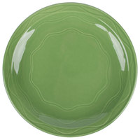 Syracuse China 903035009 Cantina 6 1/4 inch Sage Carved Round Porcelain Plate - 12/Case
