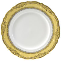 10 Strawberry Street VAN-4G Vanessa 8 inch Gold Salad / Dessert Plate   - 24/Case