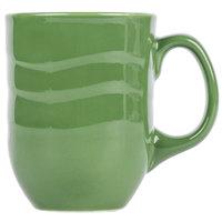 Syracuse China 903035004 Cantina 11 oz. Sage Carved Porcelain Mug - 12/Case