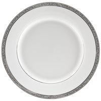 10 Strawberry Street PAR-1P Paradise 10 3/4 inch Platinum Porcelain Dinner Plate - 24/Case