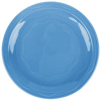 Syracuse China 903032009 Cantina 6 1/4 inch Blueberry Carved Round Porcelain Plate - 12/Case