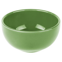 Syracuse China 903046005 Cantina 8 oz. Sage Uncarved Porcelain Bouillon Bowl - 12/Case