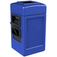 Commercial Zone 755104 28 Gallon Islander Series Blue Harbor 1 Waste Container with Towel Dispenser and Windshield Wash Station