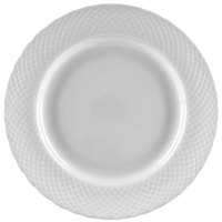 Ten Strawberry Street WW0005 White Wicker 6 5/8 inch Porcelain Bread and Butter Plate   - 24/Case