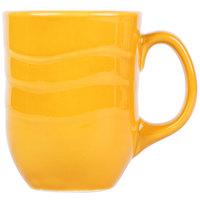 Syracuse China 903033004 Cantina 11 oz. Saffron Carved Porcelain Mug - 12/Case
