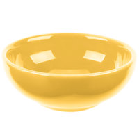 Syracuse China 903044002 Cantina 5 oz. Saffron Uncarved Porcelain Salsa Bowl - 12/Case