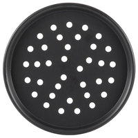 American Metalcraft PHC2012 12 inch Perforated Hard Coat Anodized Aluminum Tapered / Nesting Pizza Pan