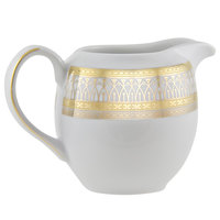 10 Strawberry Street IRIANA-16GLD Iriana 9 oz. Gold Porcelain Creamer - 6/Case