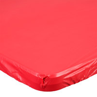 Creative Converting 37427 Stay Put 29 inch x 72 inch Real Red Plastic Table Cover - 12/Case