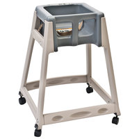 Koala Kare KB888-01W KidSitter Beige Convertible Plastic High Chair with Grey Seat and Casters